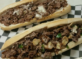 Come try Rubino's Cheesesteaks!
