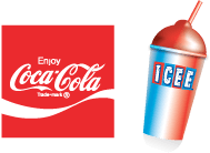 Coke and Icee Drinks offered at Rubino's Pizzeria